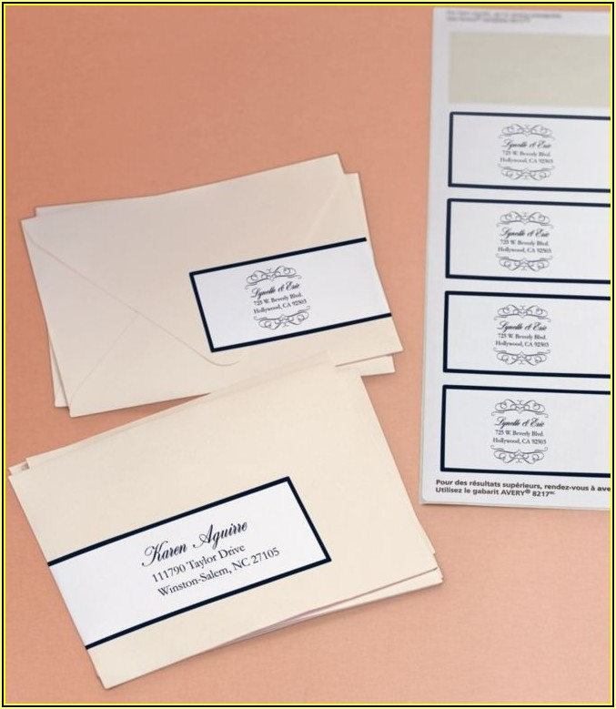 Wedding Return Address Labels Template