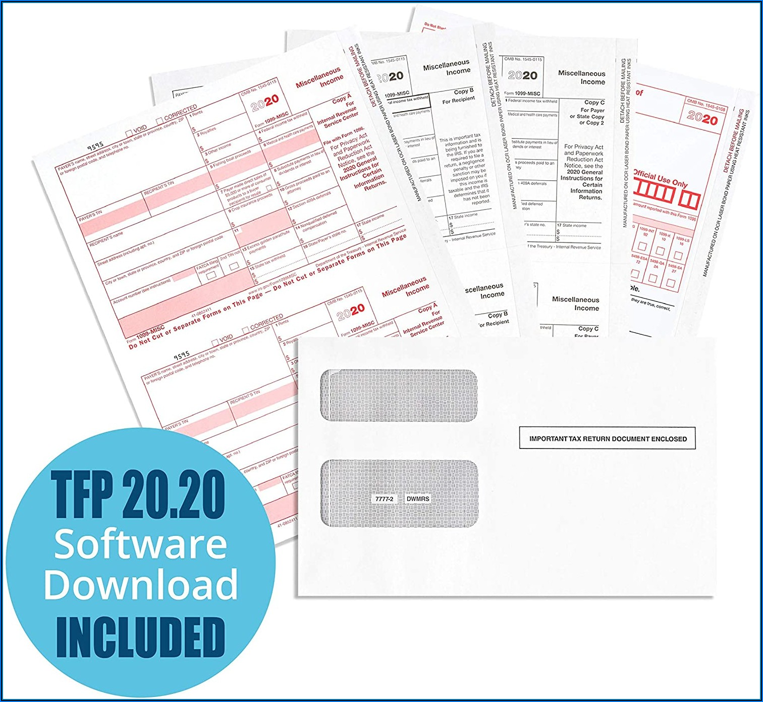 1099 Misc Tax Form Kit With Software
