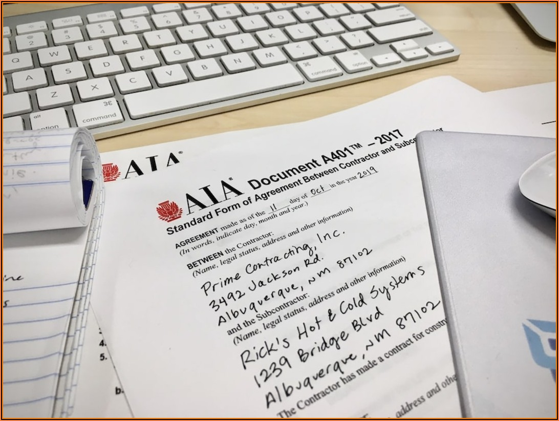 Aia Contract Forms Online