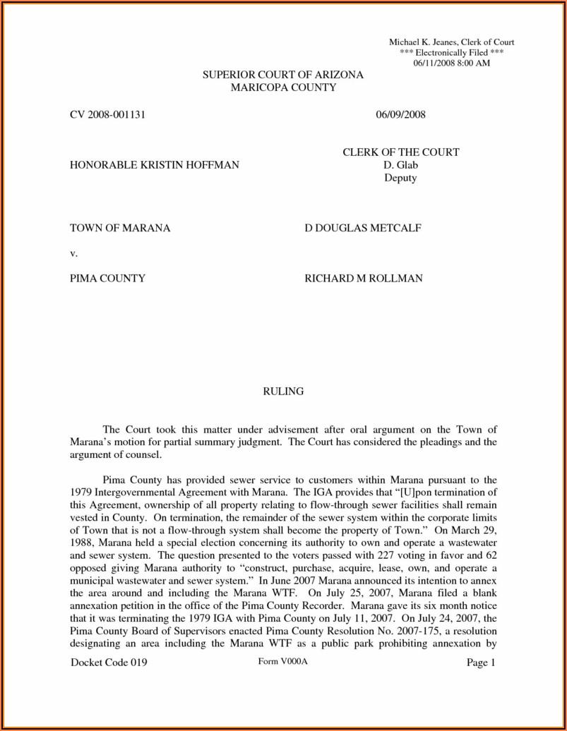 Arizona Divorce Forms Pdf Pima County