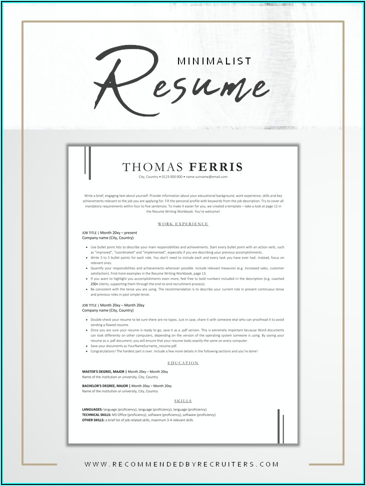 Ats Resume Template Download