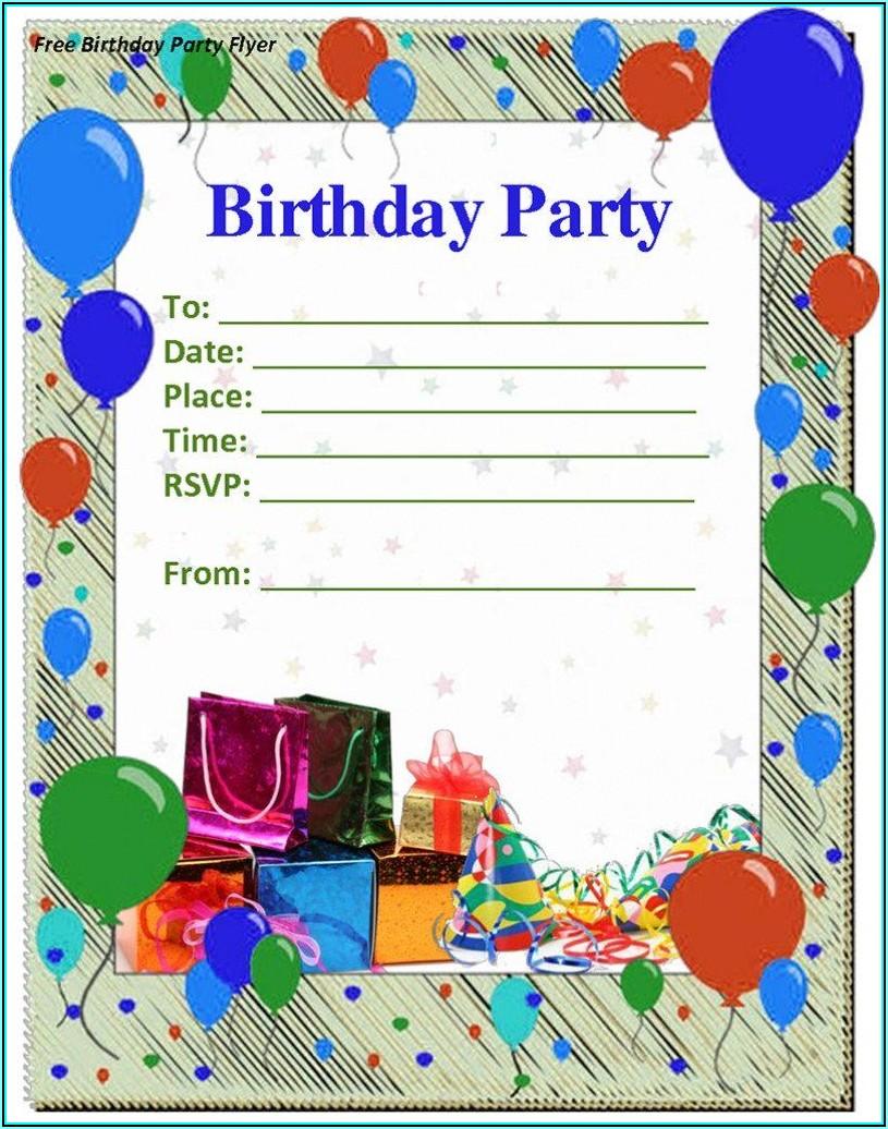 Birthday Invite Templates Free