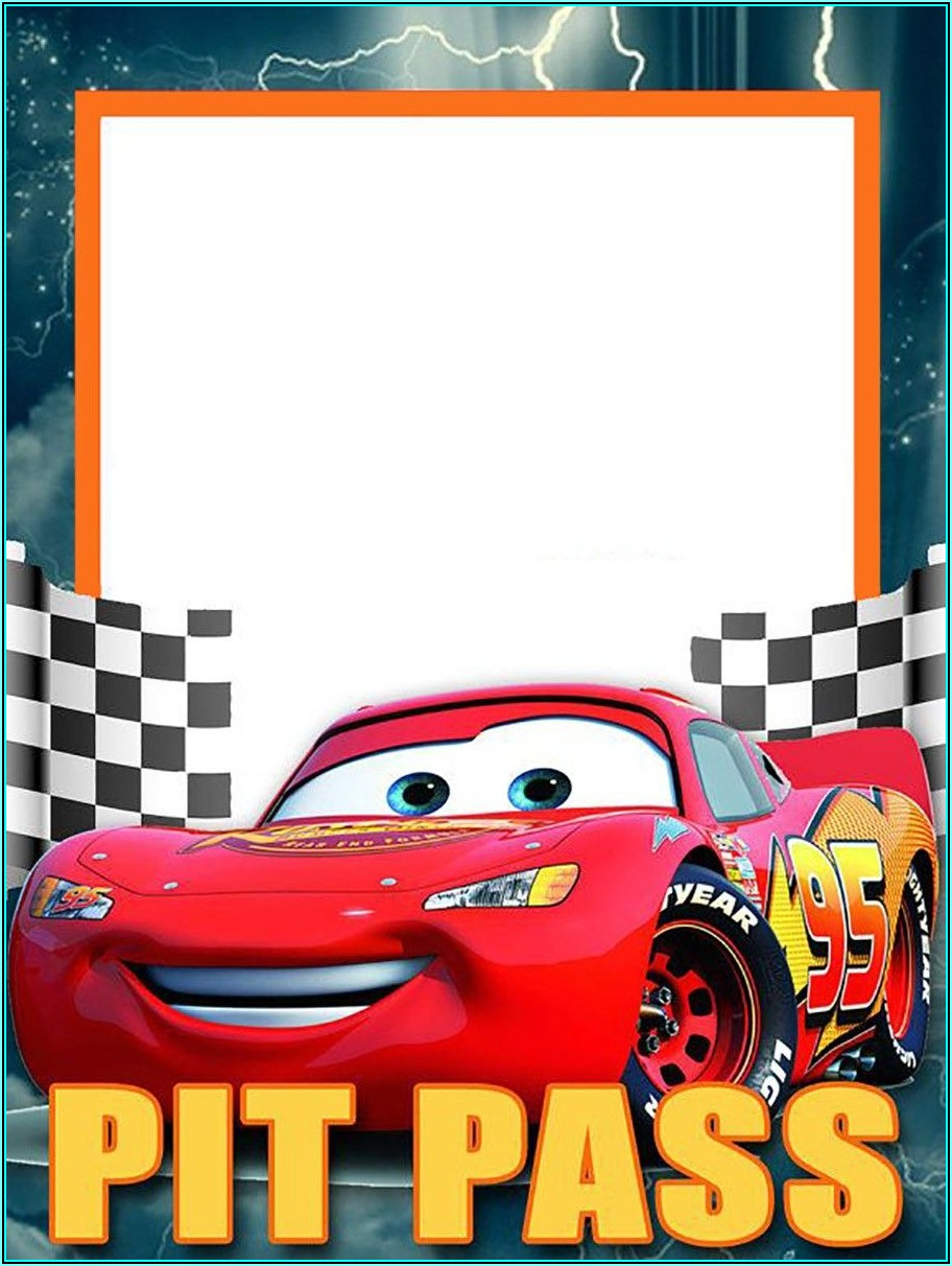 Cars Party Invitation Template Free