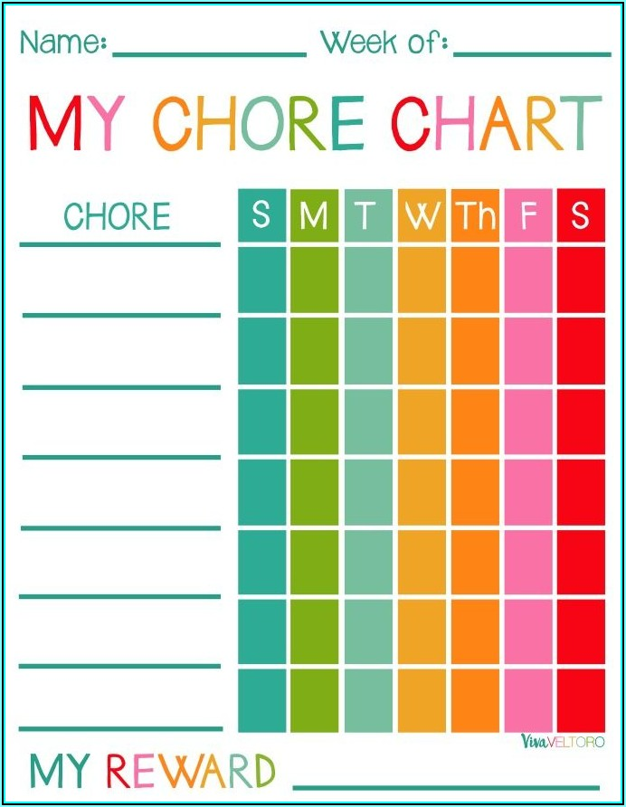 Children's Daily Chore Chart Template