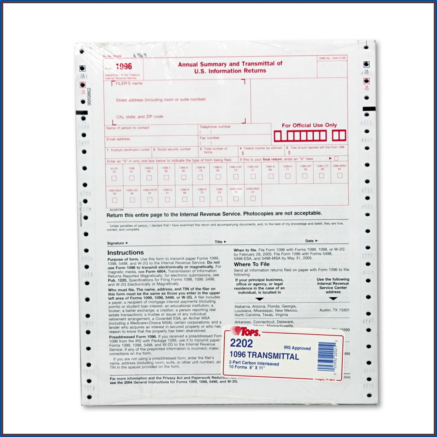 Contractor Irs Form 1099