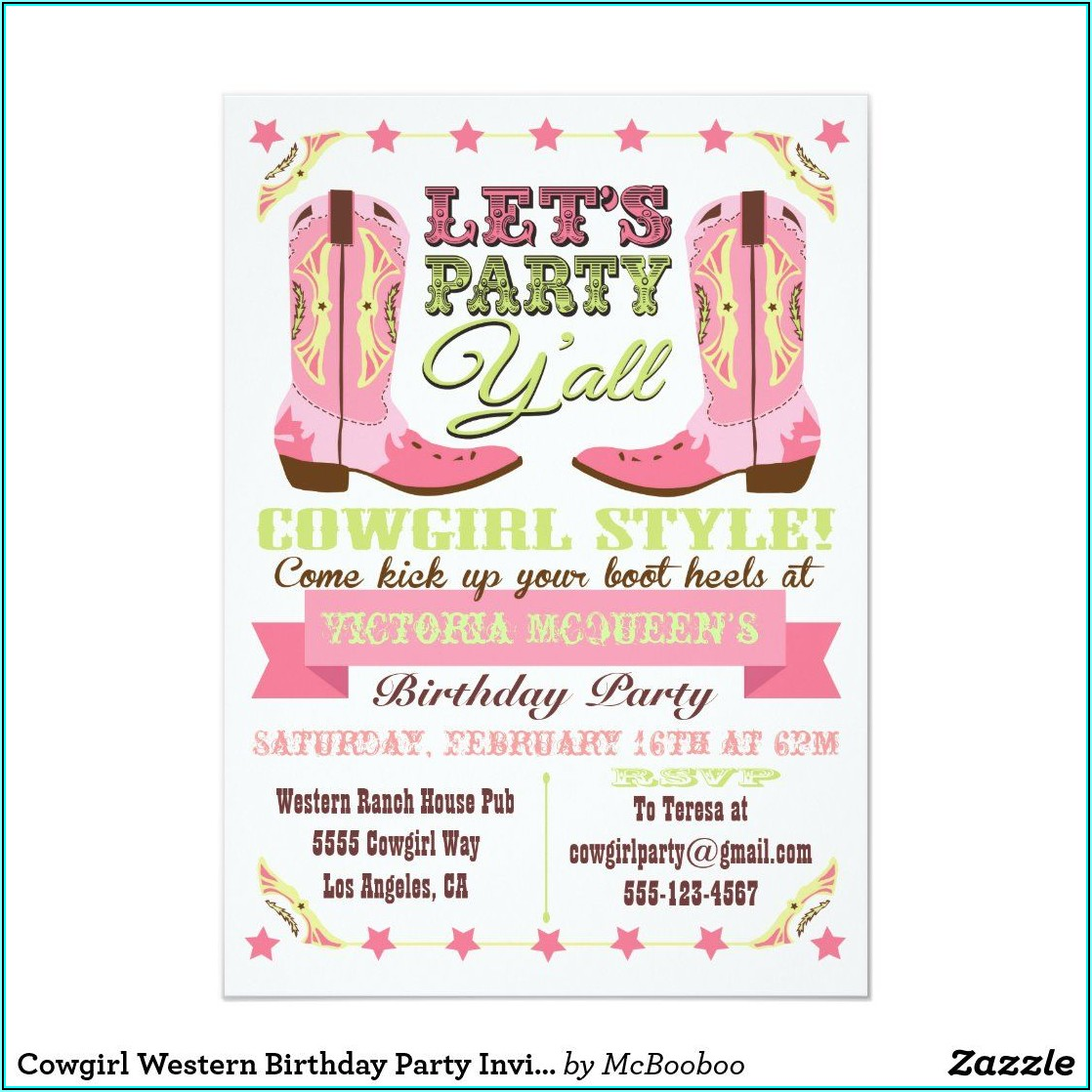 Cowgirl Bachelorette Party Invitations Templates
