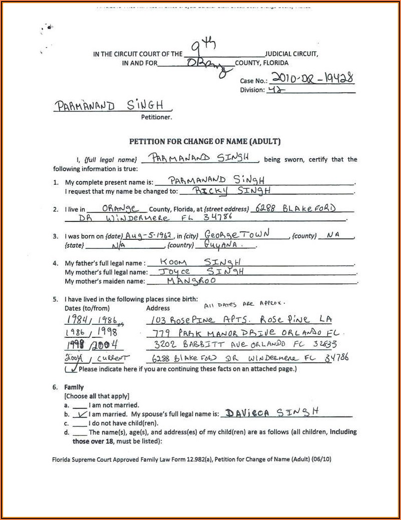 Divorce Paperwork In Illinois