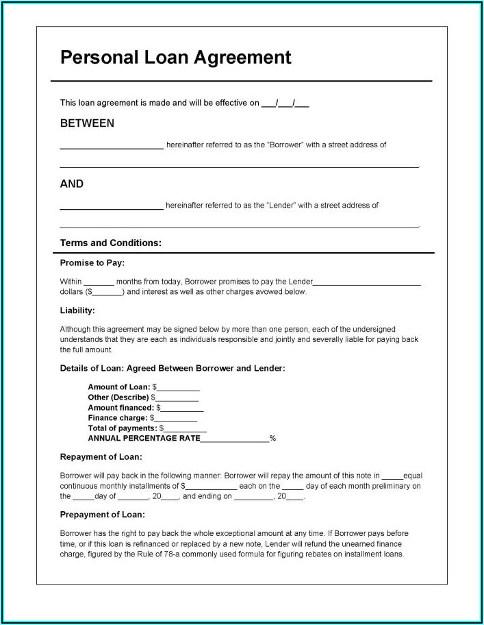 Download Free Online Loan Agreement Forms
