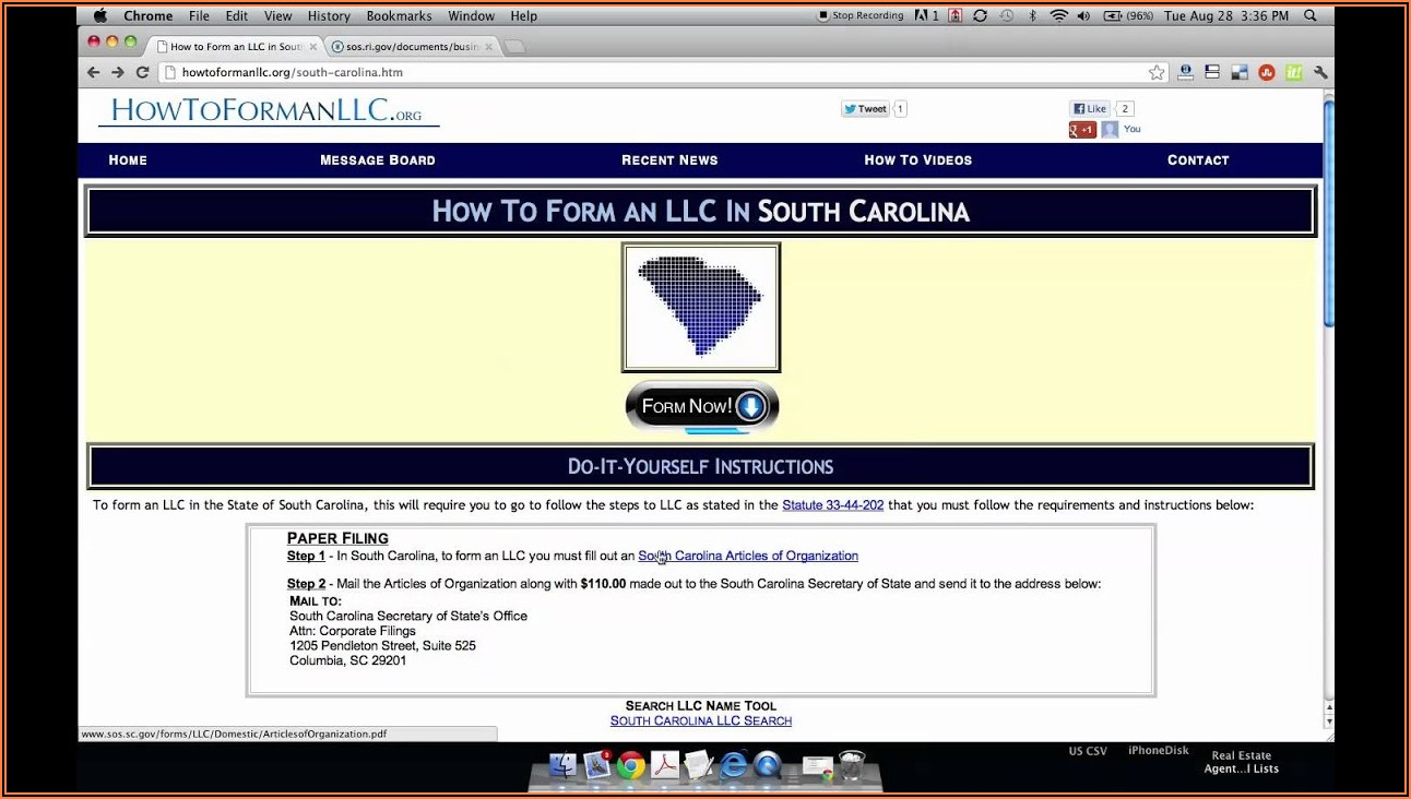 Establishing An Llc In South Carolina