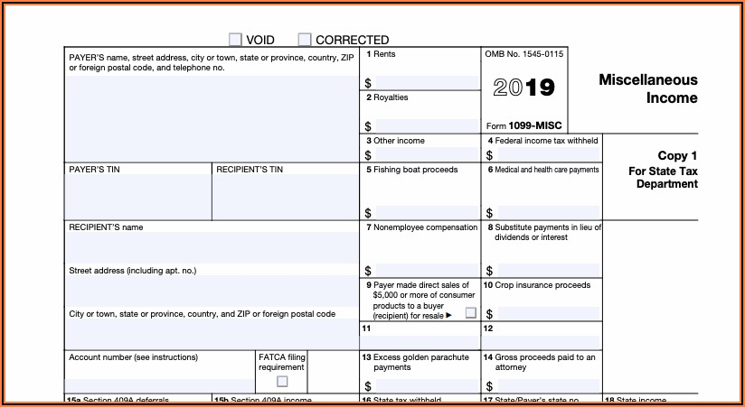 Federal Tax Form 1099 Oid