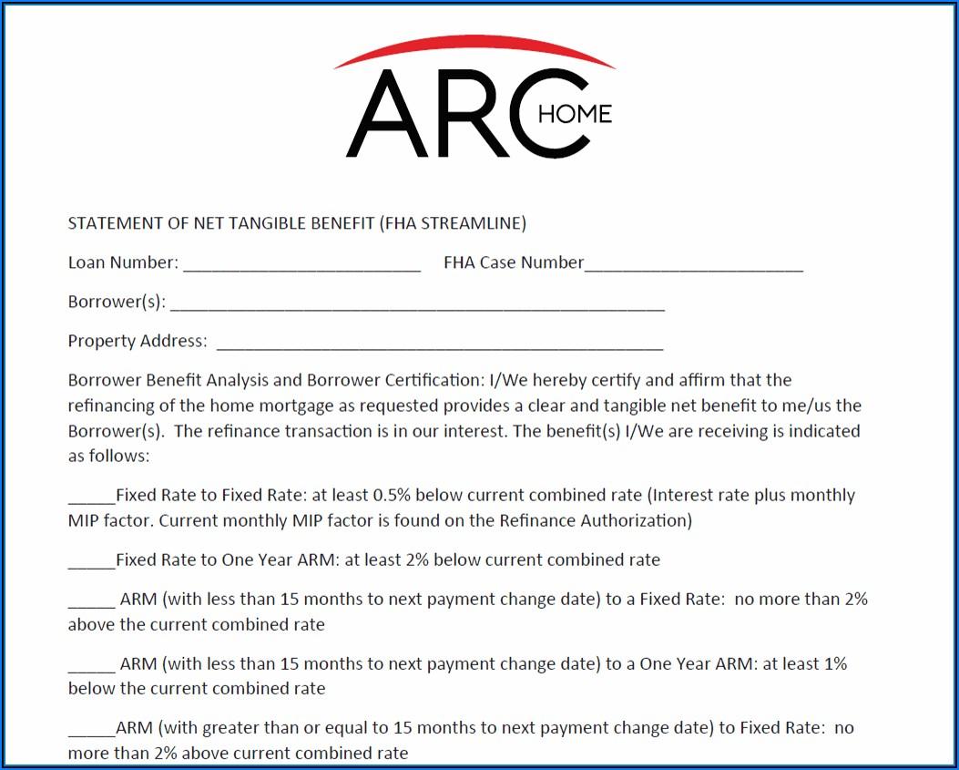 Fha Streamline Refinance Authorization Form