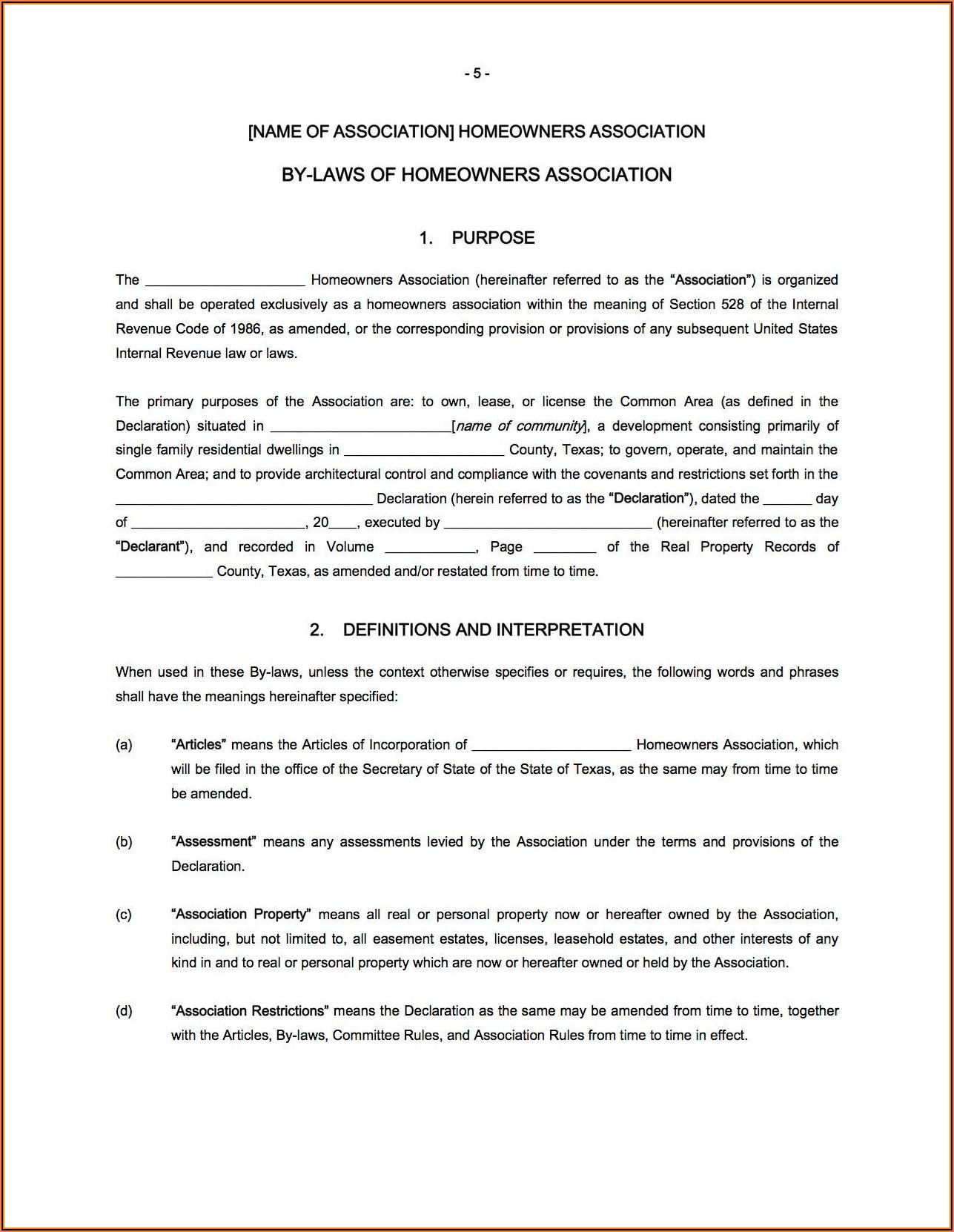 Florida Homeowners Association Proxy Form