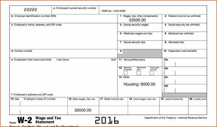 Free Blank 2016 W2 Forms