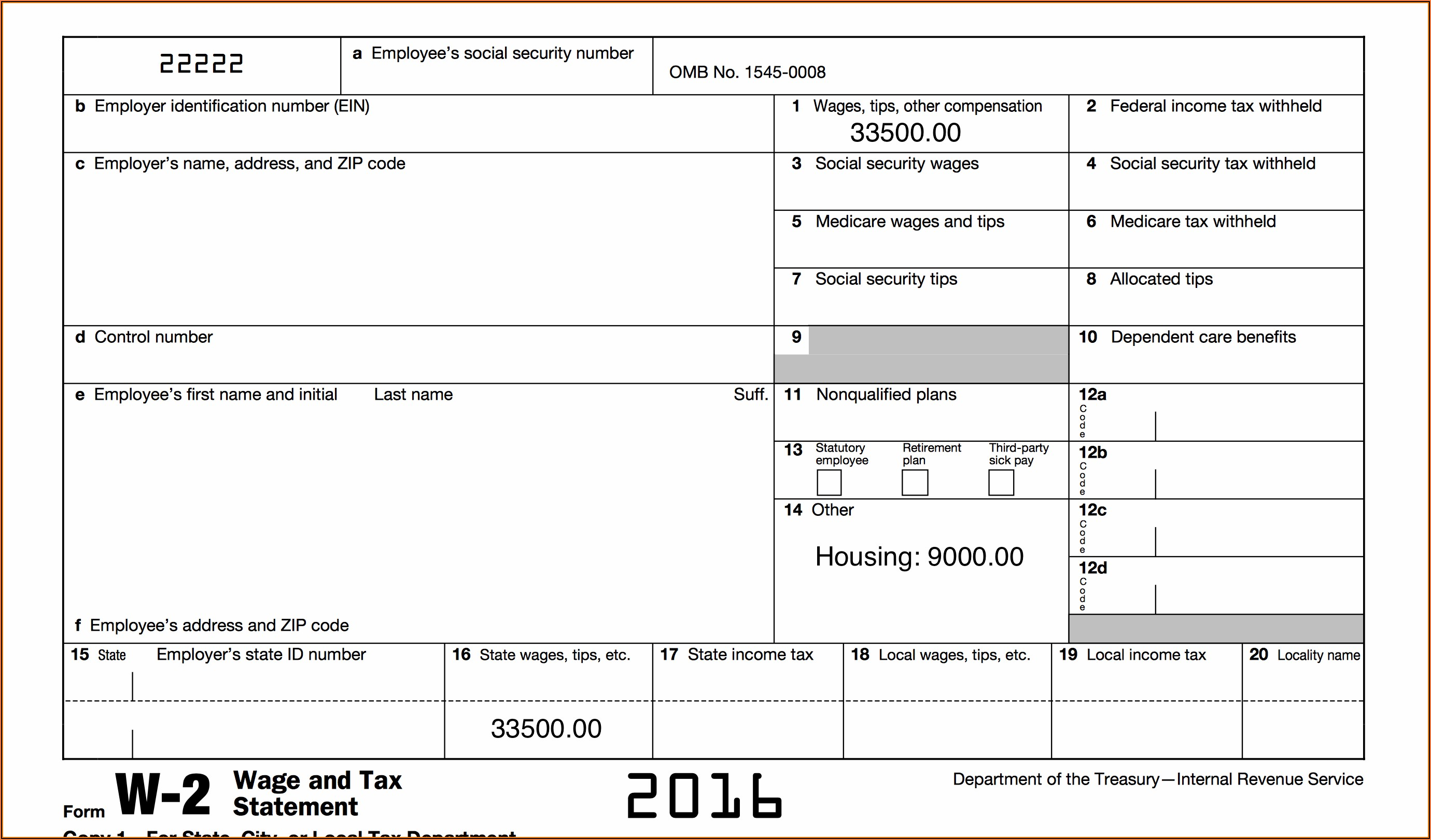 Free Blank 2016 W2 Forms