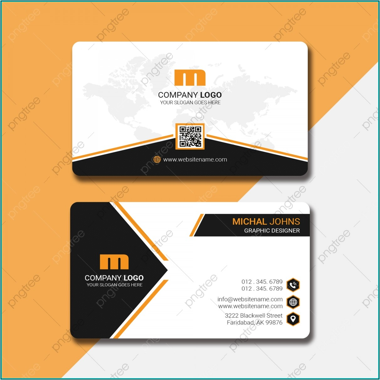 Free Business Card Template With Qr Code