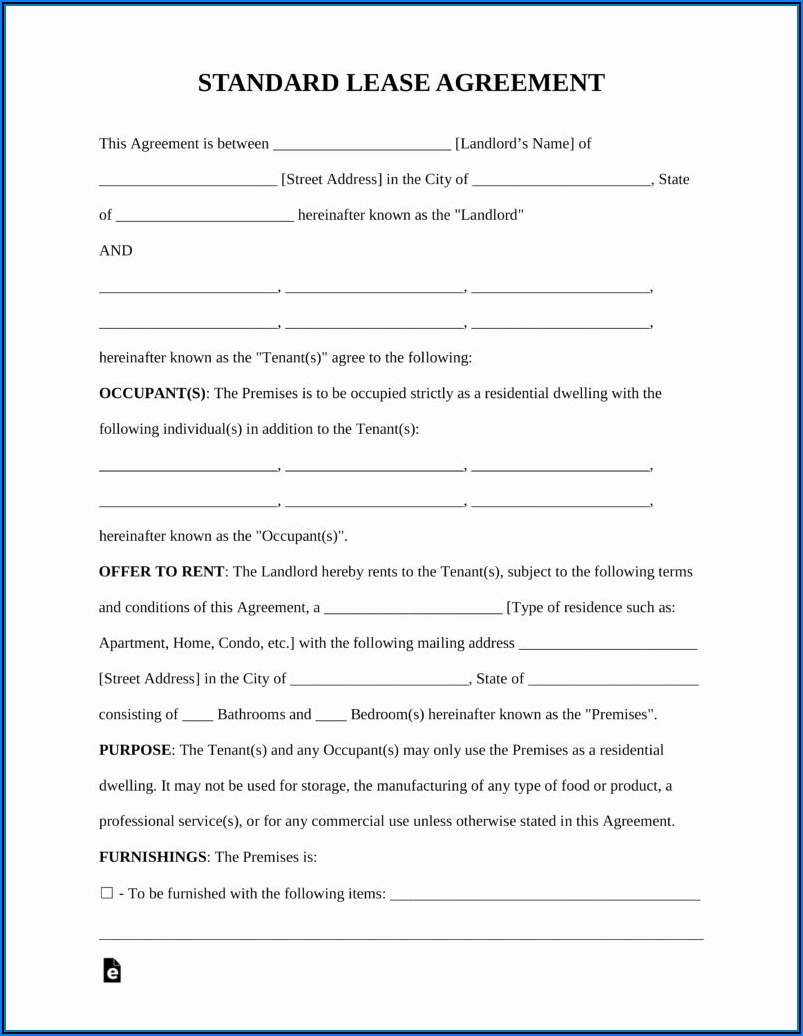 Free Commercial Rental Agreement Forms