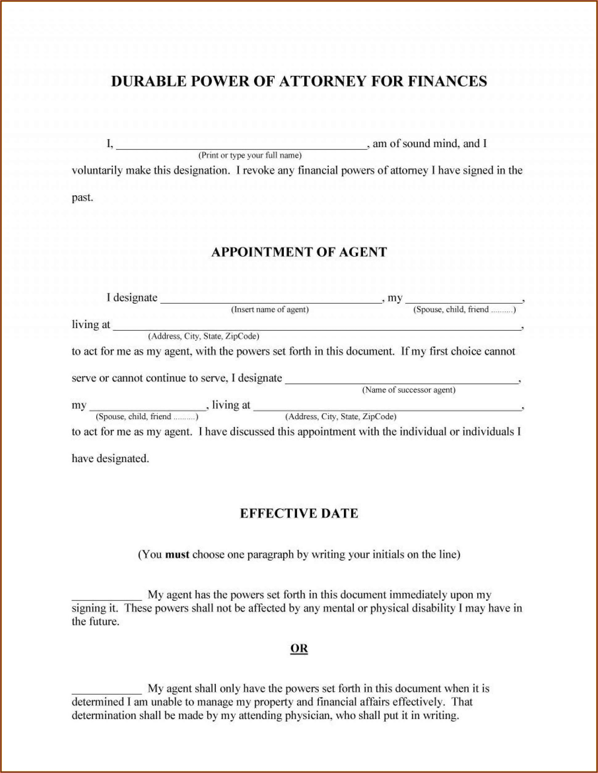 Free Florida Medical Power Of Attorney Forms To Print