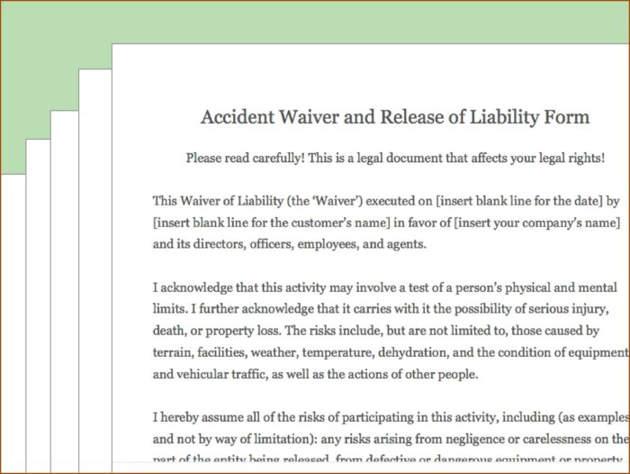 Free General Release Of Liability Form California