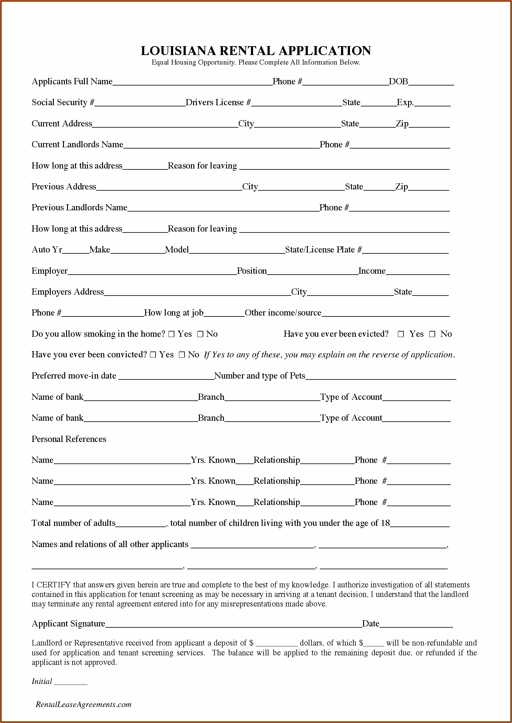 Free Louisiana Lease Purchase Agreement Forms