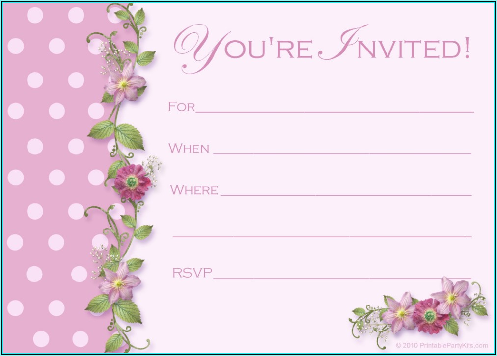 Free Printable Bachelorette Party Invitations Templates