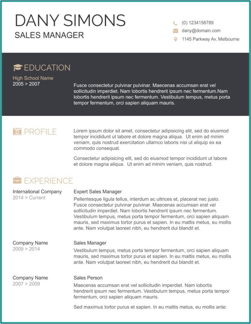 Free Resume Templates 2019 Microsoft Word