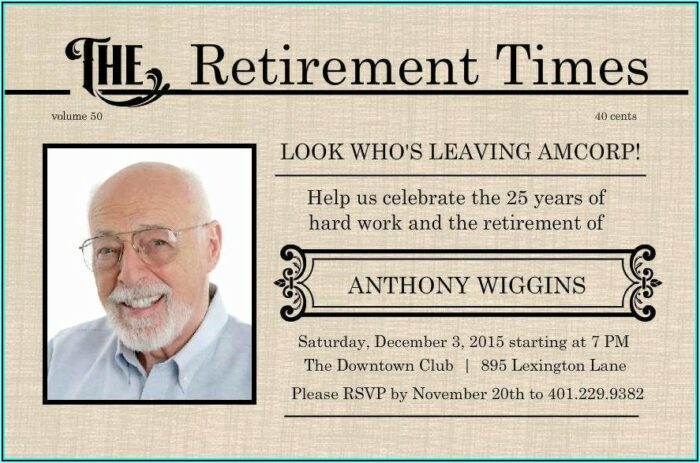 Free Retirement Flyer Templates