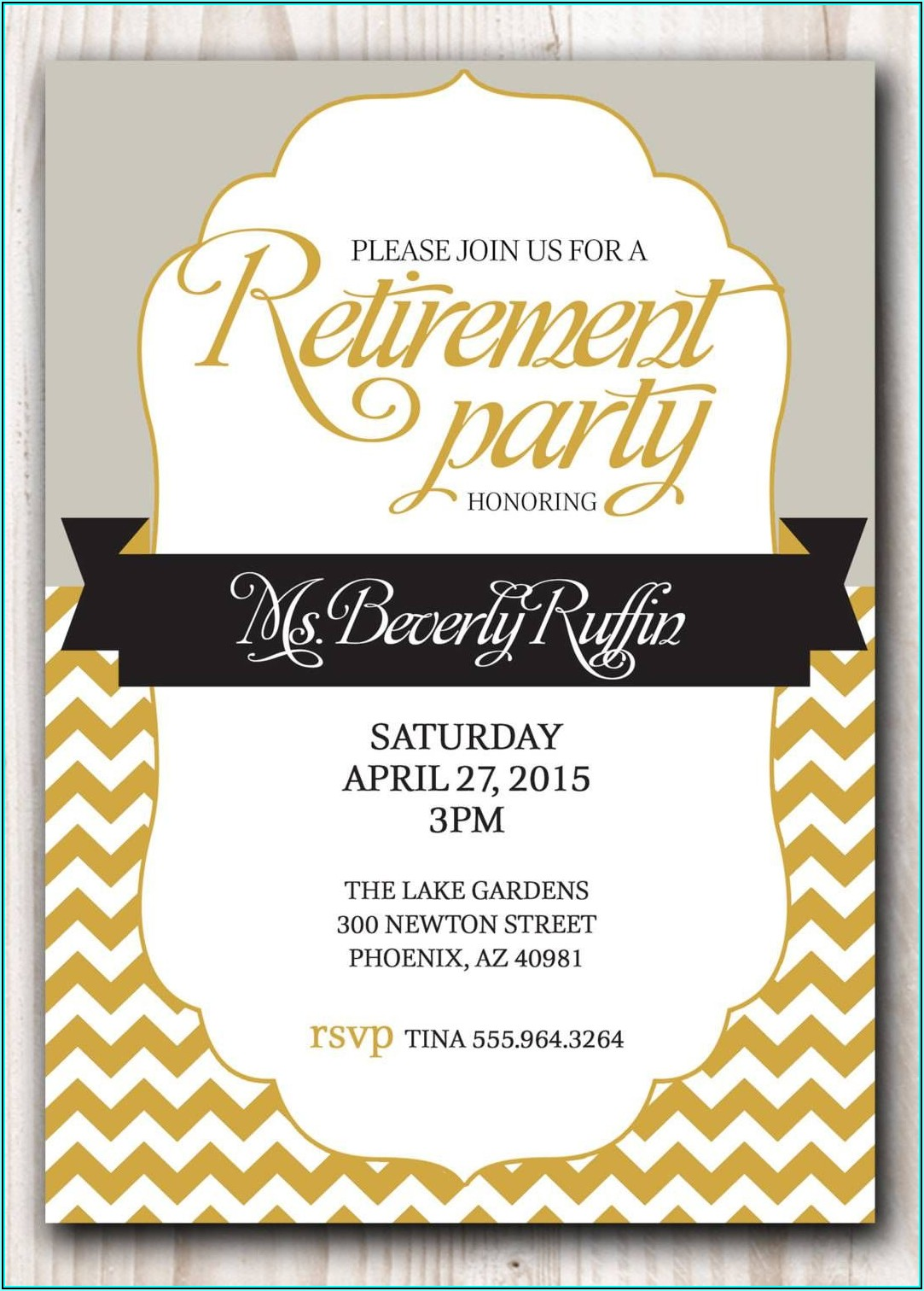 Free Retirement Flyer Templates For Word