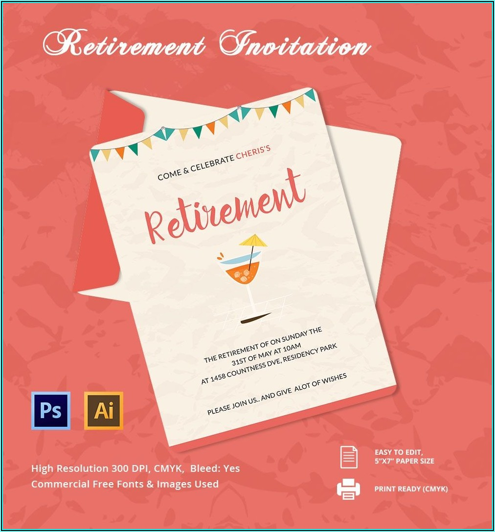 Free Retirement Party Flyer Templates