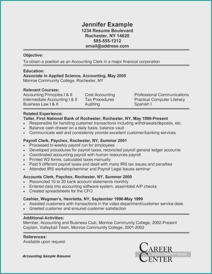 Free Sample Resume Templates 2018