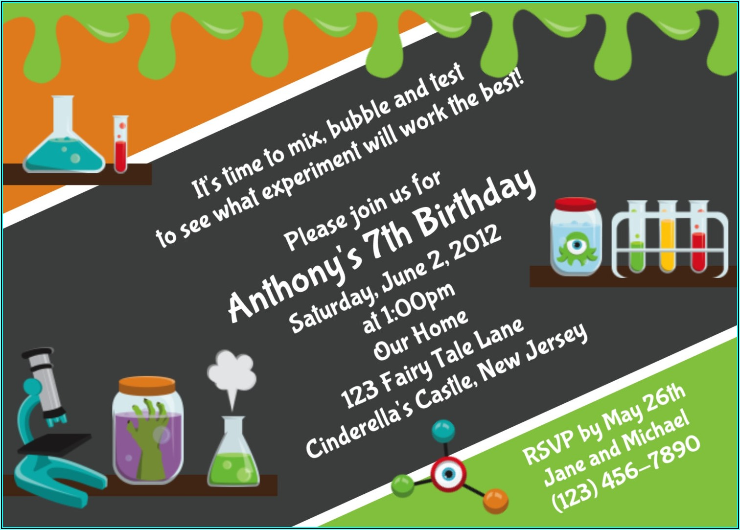 Free Science Birthday Party Invitation Templates