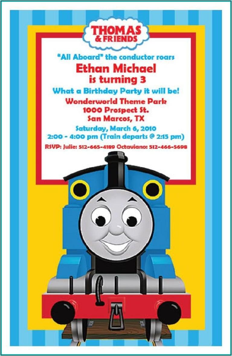 Free Thomas The Train Invitations Template