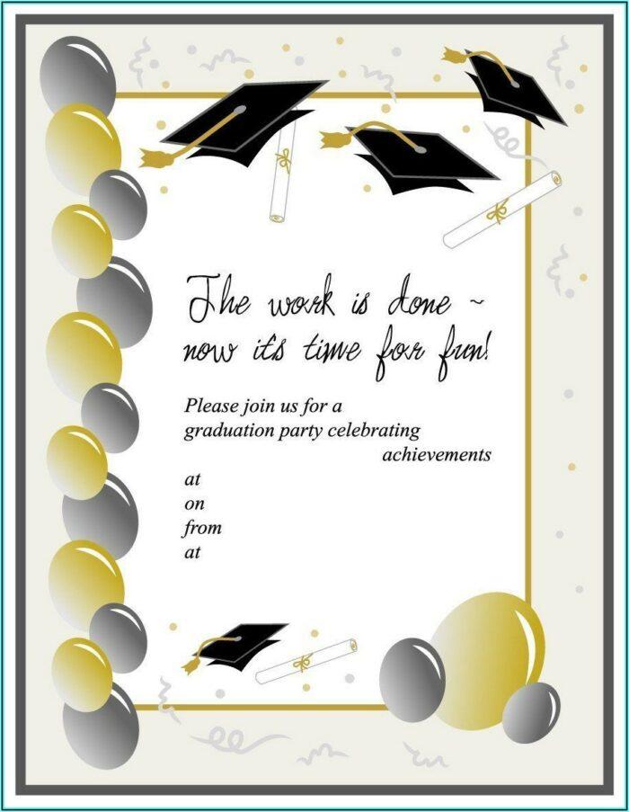 Graduation Invite Template