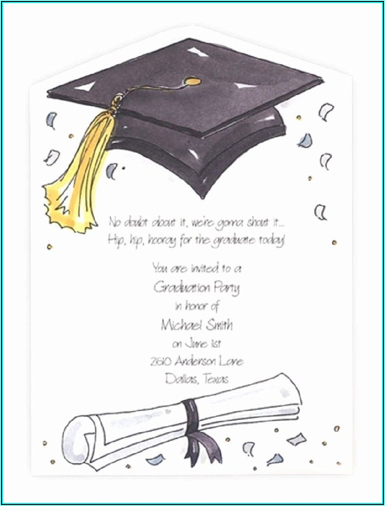 Graduation Invite Template Word