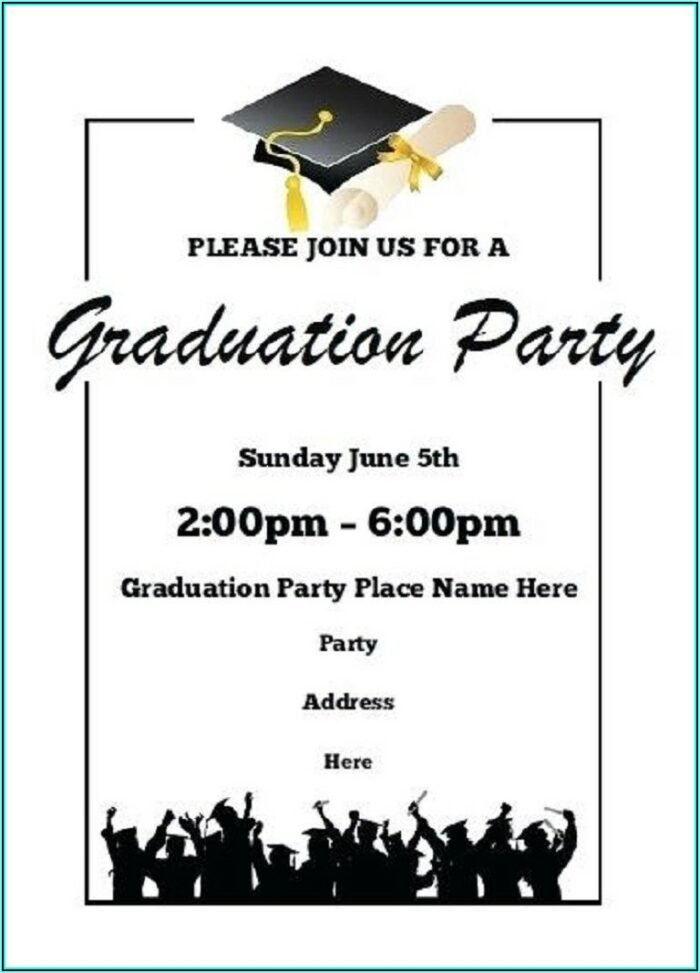 Graduation Party Templates