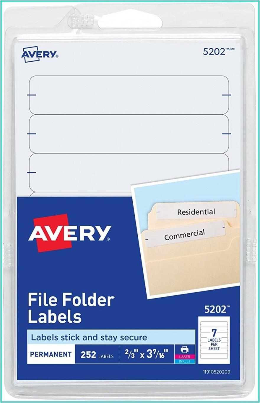 Hanging File Folder Labels Template Word