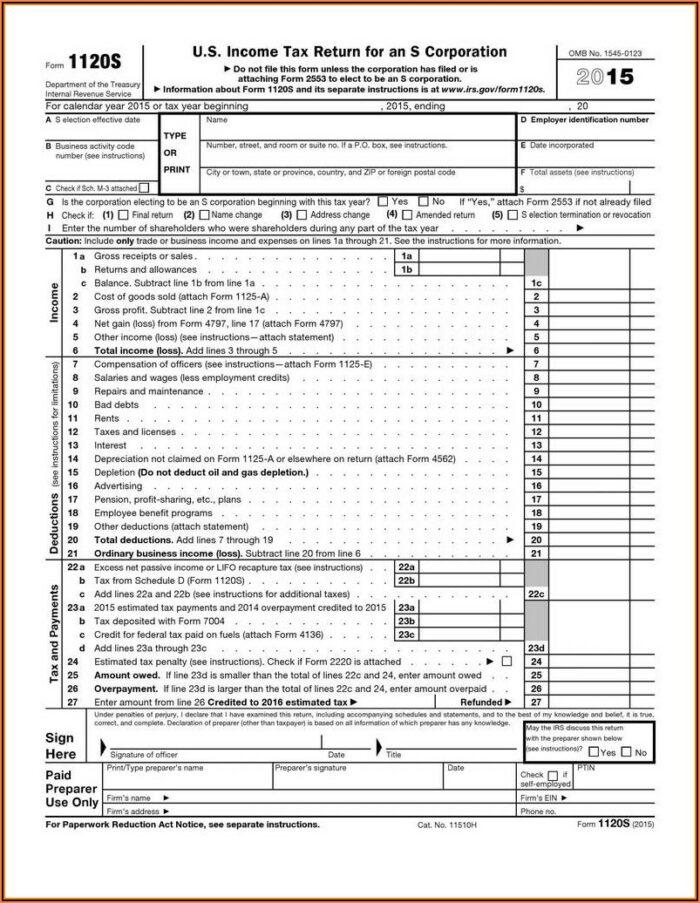 Instructions For Form 1040ez 2015