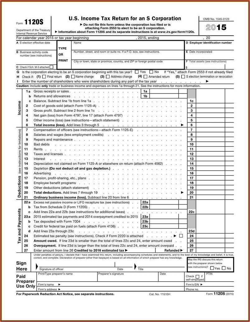 Instructions For Form 1040ez 2015