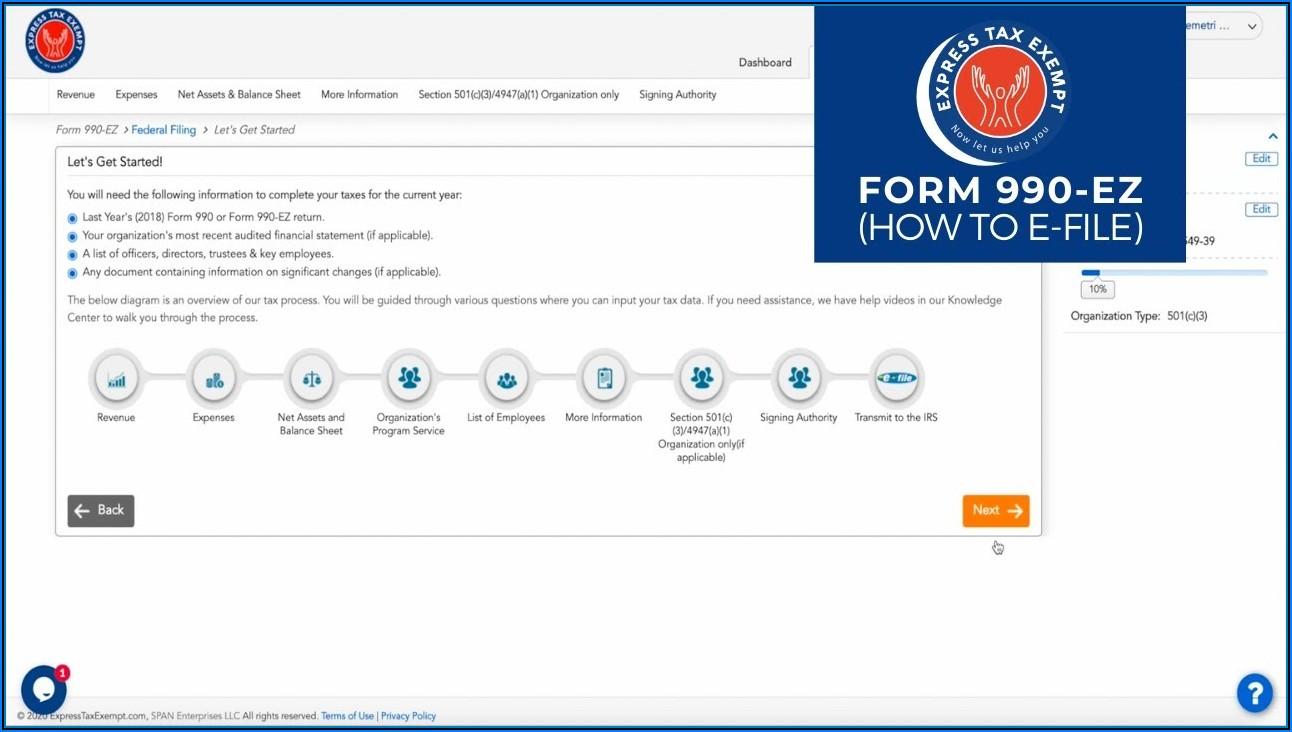 Irs Form 990 Nonprofit