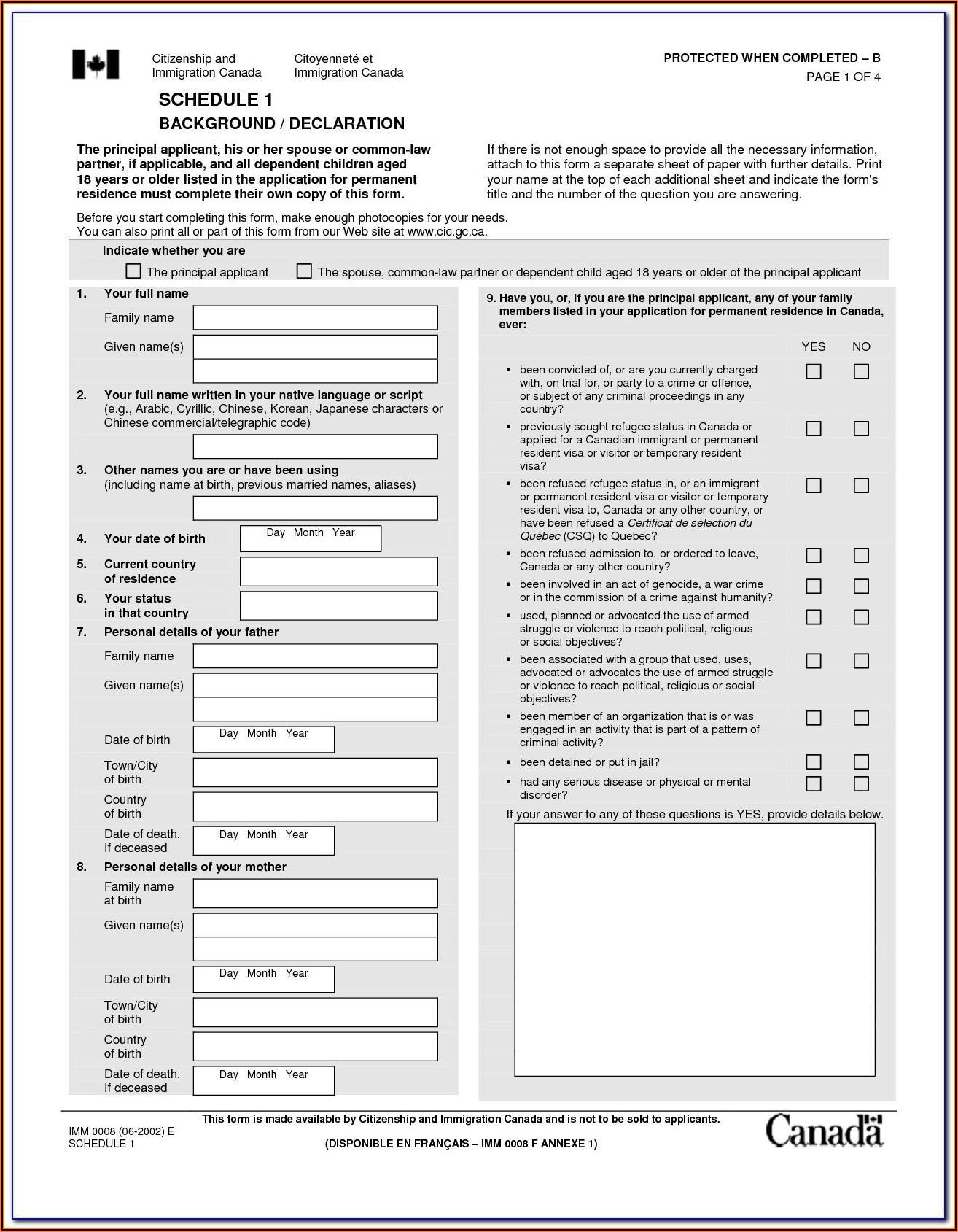 Jamaican Immigration Form