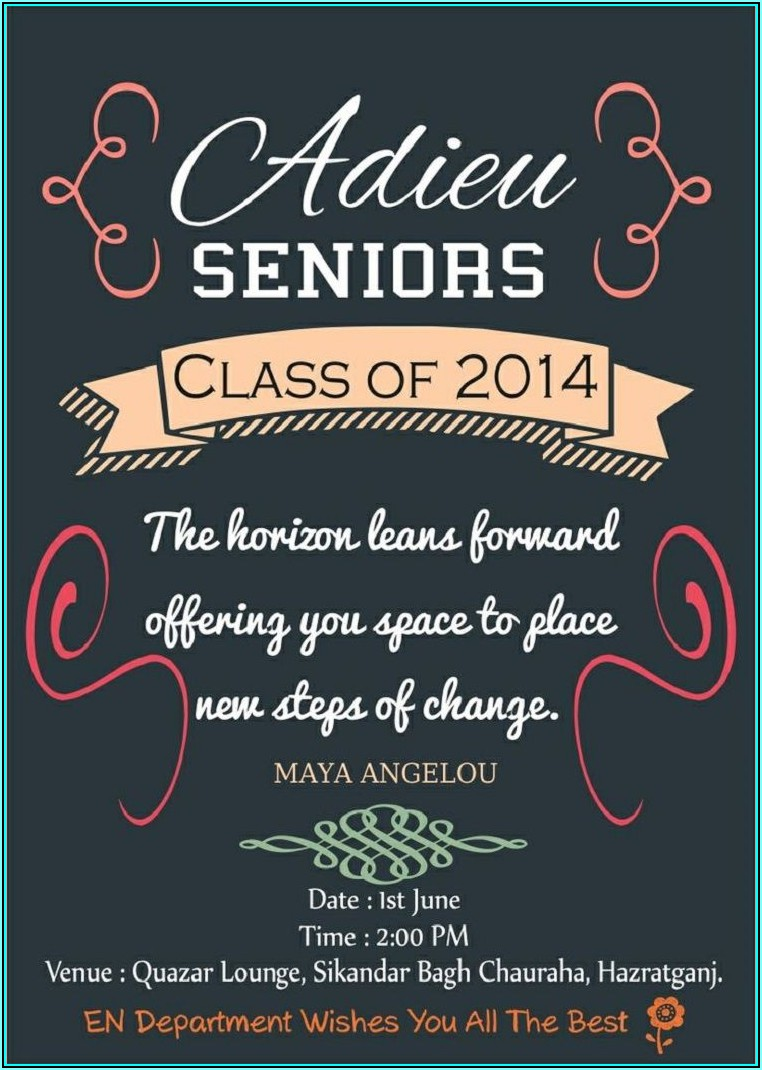 Matric Farewell Invitation Templates