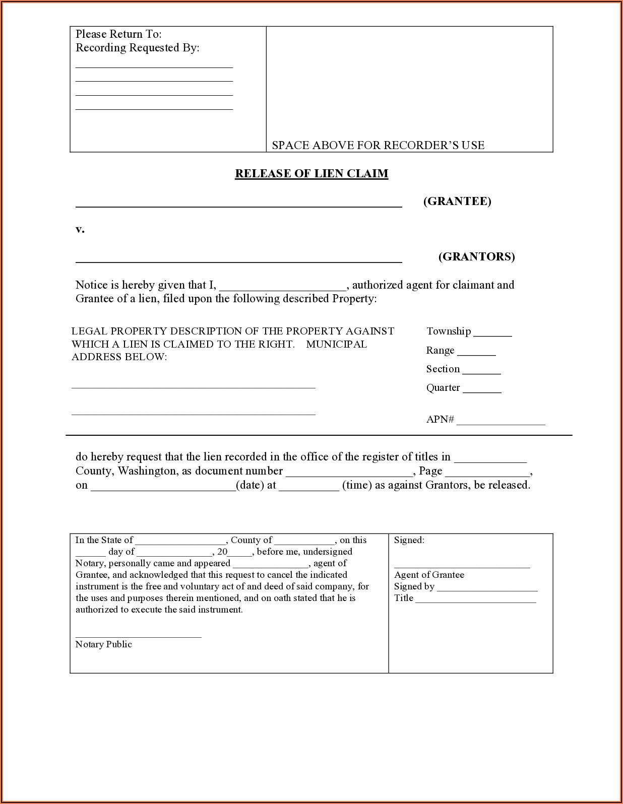 Mechanics Lien Release Form California Pdf