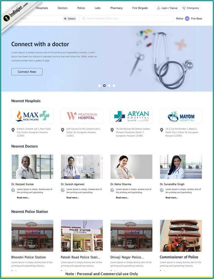 Medical Website Templates Free Download