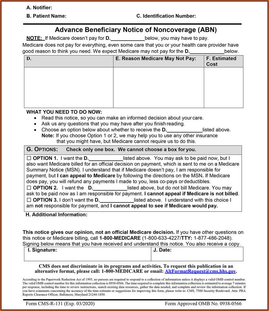 Medicare Part B Enrollment Form Cms L564