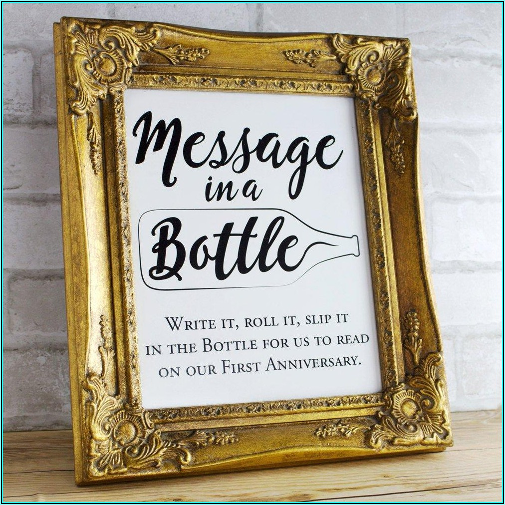 Message In A Bottle Baby Shower Template Free