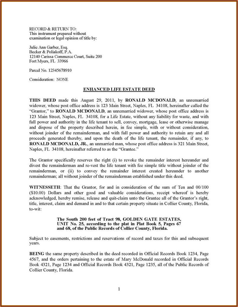 Notice Of Intent To Lien Florida Form