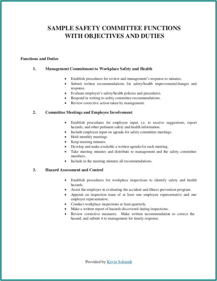 Osha Safety Committee Meeting Minutes Template