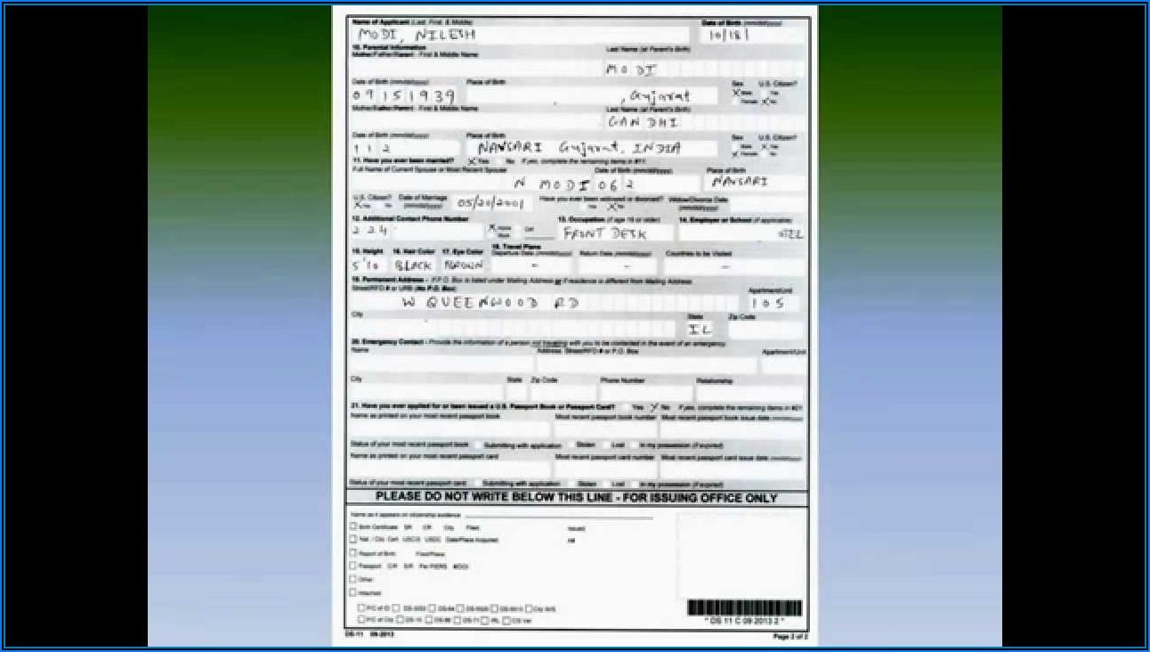 Passport Renewal Forms Child Trinidad