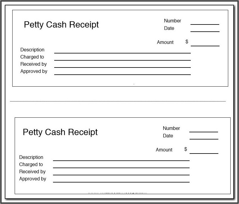 Petty Cash Receipt Form Template