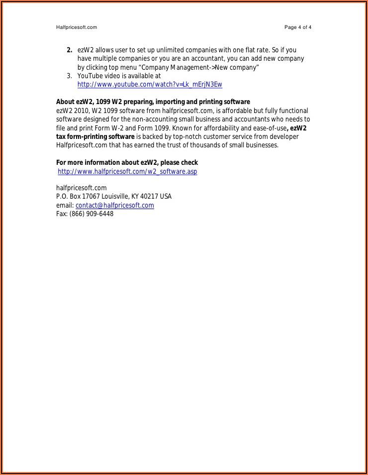 Print W2 Tax Form