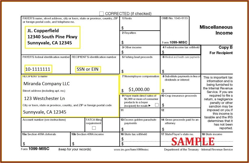 Printable 1099 Misc Form 2020